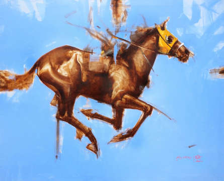 Animals Acrylic-oil Art Painting title Blue And Yellow by artist Aditya Shirke