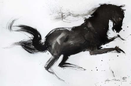 Animals Acrylic Art Painting title Cherry Blossom by artist Aditya Shirke