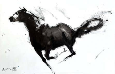Animals Acrylic Art Painting title Tailspin by artist Aditya Shirke