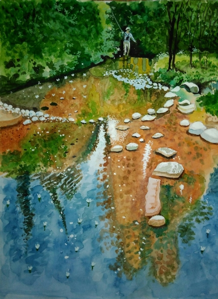 Landscape Watercolor Art Painting title 'Img 20170413 202747' by artist MRITYUNJOY Chakraborty