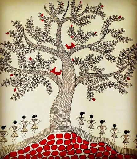 Treeoflife3 | Painting by artist Madhavi Sandur | acrylic | Canvas