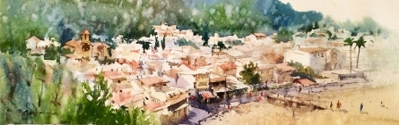 Girona-tosa De Mar 01a | Painting by artist Vikrant Shitole | watercolor | Paper