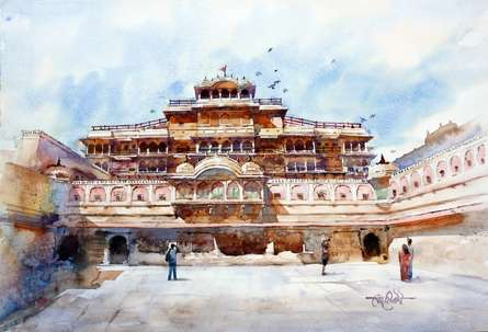 City Of Palace | Painting by artist Vikrant Shitole | watercolor | Paper