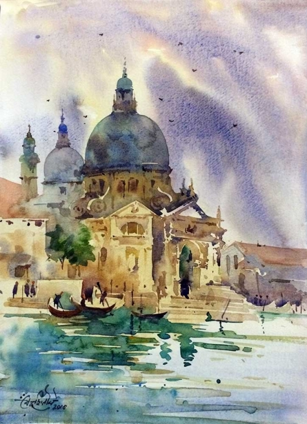 The Accademia Galleries | Painting by artist Vikrant Shitole | watercolor | Paper