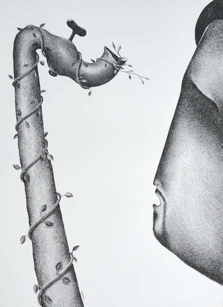 Thirst 58 | Drawing by artist Nuril Bhosale |  | pen | Paper