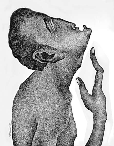 Figurative Pen Art Drawing title Thirst 65 by artist Nuril Bhosale