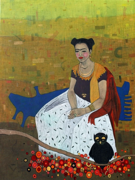Figurative Mixed-media Art Painting title 'Mere Liye Saadi Leke Aana' by artist Himanshu Lodwal