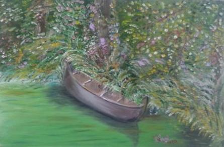 Boat Series5 | Painting by artist Vidya Lakshmi | oil | Canvas