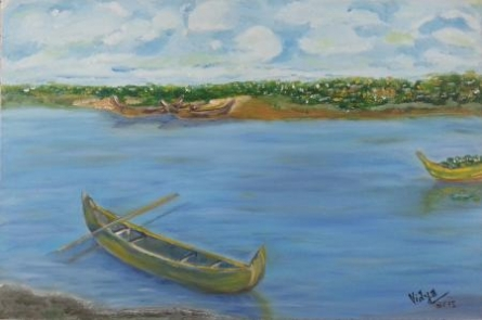 Boat Series6 | Painting by artist Vidya Lakshmi | oil | Canvas