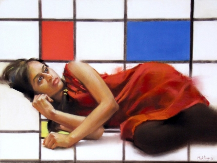 Envoleped By Mondrian Pastel   Painting by artist Mukta Avachat   dry-pastel   Paper