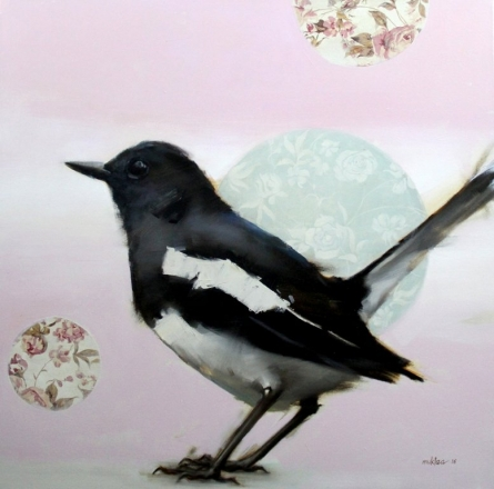 Nature Mixed-media Art Painting title Magpie by artist Mukta Avachat