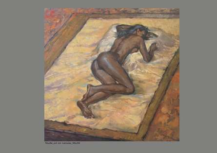 Nude Oil Art Painting title Figure 2 by artist NanaSaheb Yeole