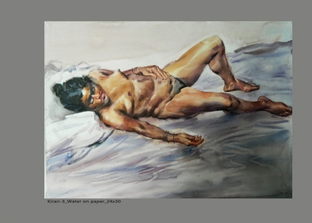 NanaSaheb Yeole Paintings | Watercolor Painting - Figure 3 by artist NanaSaheb Yeole | ArtZolo.com