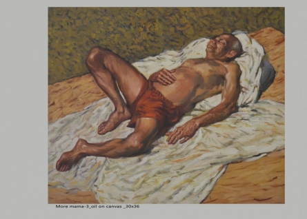 Figure-5 | Painting by artist NanaSaheb Yeole | oil | Canvas