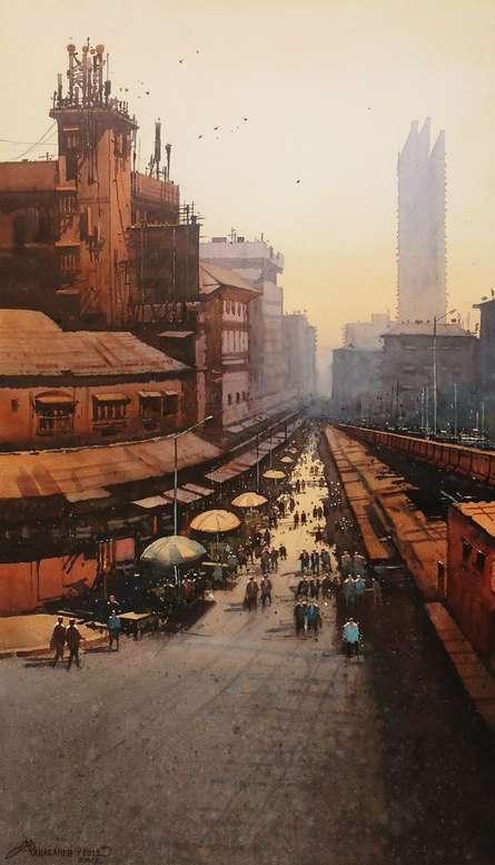 Laminton Road | Painting by artist NanaSaheb Yeole | watercolor | Paper