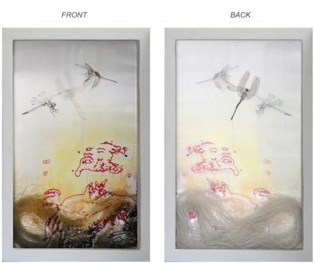 26 Inquietude-iii | Painting by artist RAMA REDDY | mixed-media | Silk Screen