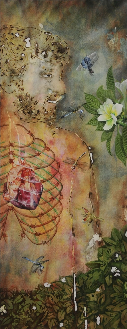 Nature Mixed-media Art Painting title Self And Nature 1 by artist RAMA REDDY