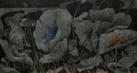 Nature Acrylic Art Painting title 'Blossom 2' by artist Sulakshana Dharmadhikari
