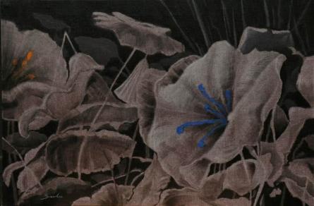 Nature Acrylic Art Painting title 'Blossom 3' by artist Sulakshana Dharmadhikari