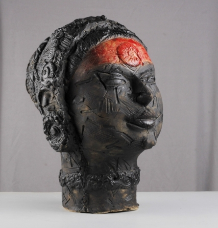 Ceramics Sculpture titled 'Battered By Time' by artist MAHESH ANJARLEKAR