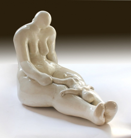 Motherchild I | Sculpture by artist MAHESH ANJARLEKAR | mix media