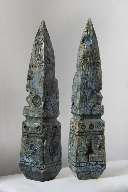Ceramics Sculpture titled 'Relics Of Time 1' by artist MAHESH ANJARLEKAR