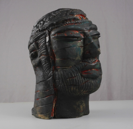 MAHESH ANJARLEKAR | Withered Valor 2 Sculpture by artist MAHESH ANJARLEKAR on Ceramics | ArtZolo.com