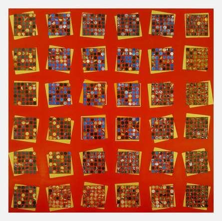 Abstract Mixed-media Art Painting title 'The Sanctum' by artist Ekta Sharma