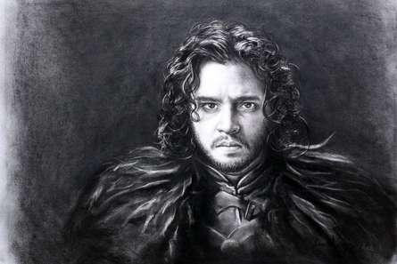 Jon Snow | Drawing by artist Sundeep Kumar |  | charcoal | Paper