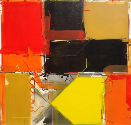 Abstract 3 | Painting by artist Santosh Rathod | acrylic | Canvas