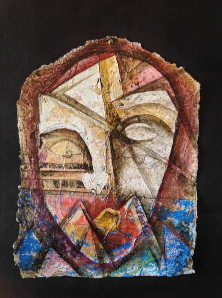 Heritage Love - 3 | Painting by artist Rajesh Yadav | mixed-media | Canvas