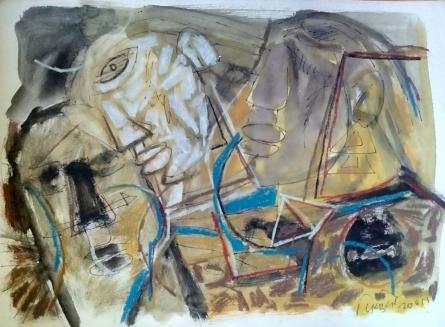 Abstract 1 | Painting by artist Jitendra Suralkar | mixed-media | Paper
