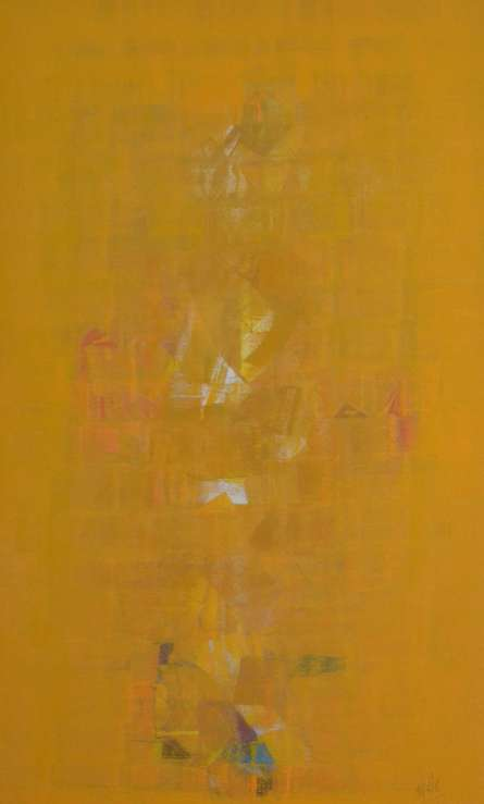 Abstract Oil Art Painting title Search of Eternity 35 by artist Raghu Neware