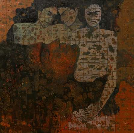 Figurative Acrylic Art Painting title Untitled 20 by artist Swati Sable
