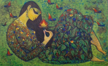 Beauty of Nature | Painting by artist Ramesh Gujar | acrylic | Canvas
