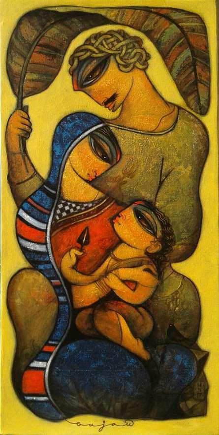Family 1 | Painting by artist Ramesh Gujar | acrylic | Canvas