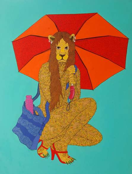 Fantasy Acrylic Art Painting title Hasina by artist Bandana Kumari