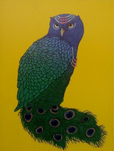 Animals Mixed-media Art Painting title Queen 2 by artist Bandana Kumari