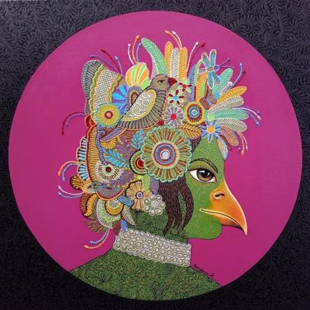 Fantasy Mixed-media Art Painting title Queen 3 by artist Bandana Kumari
