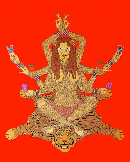 Fantasy Acrylic Art Painting title Yogni by artist Bandana Kumari