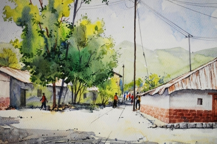 Untitled | Painting by artist Ramdas Thorat | watercolor | Paper