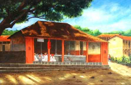 University Of Mumbai 2   Painting by artist Ramdas Thorat   watercolor   Paper
