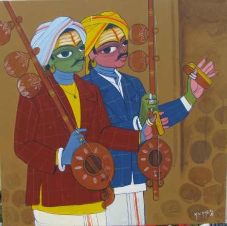 Musicians | Painting by artist KV Kale | acrylic | Canvas