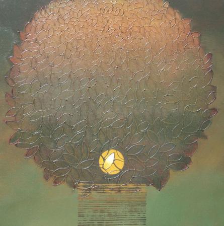 Untitled 7   Painting by artist Shivaji Chavan   acrylic   Canvas
