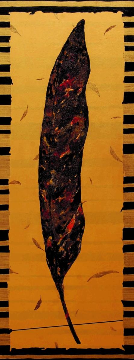 Plumage Evolution 4 | Painting by artist Raosaheb Gagre | acrylic | Canvas