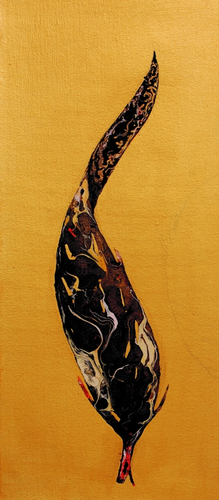 Plumage Evolution 5 | Painting by artist Raosaheb Gagre | acrylic | Canvas