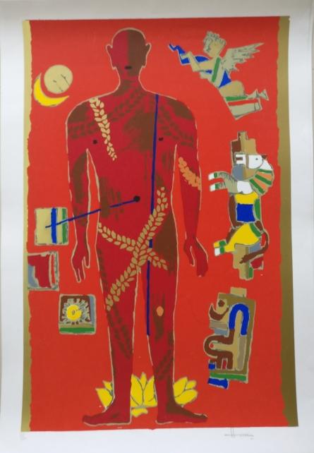 Theorema Series 3 | Painting by artist M F Husain | serigraphs | Paper