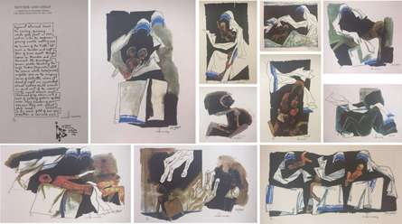 Mother Teresa Series of 11 pcs | Painting by artist M F Husain | serigraphs | Paper