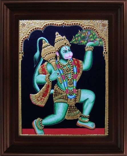 art,painting,folk,traditional,tanjore,gold,foil,rich,precious,god,goddess