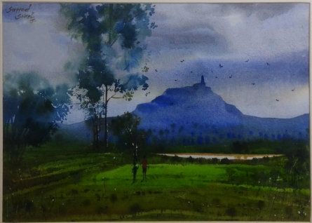 Village 9 | Painting by artist Sohel Sayyad | watercolor | Paper